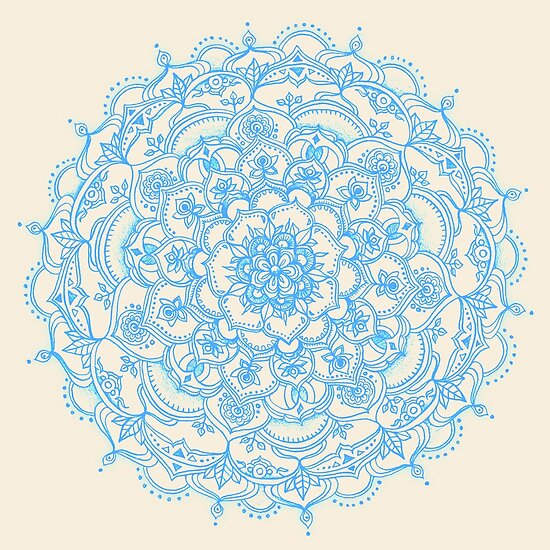 light blue lace mandala - photo #2