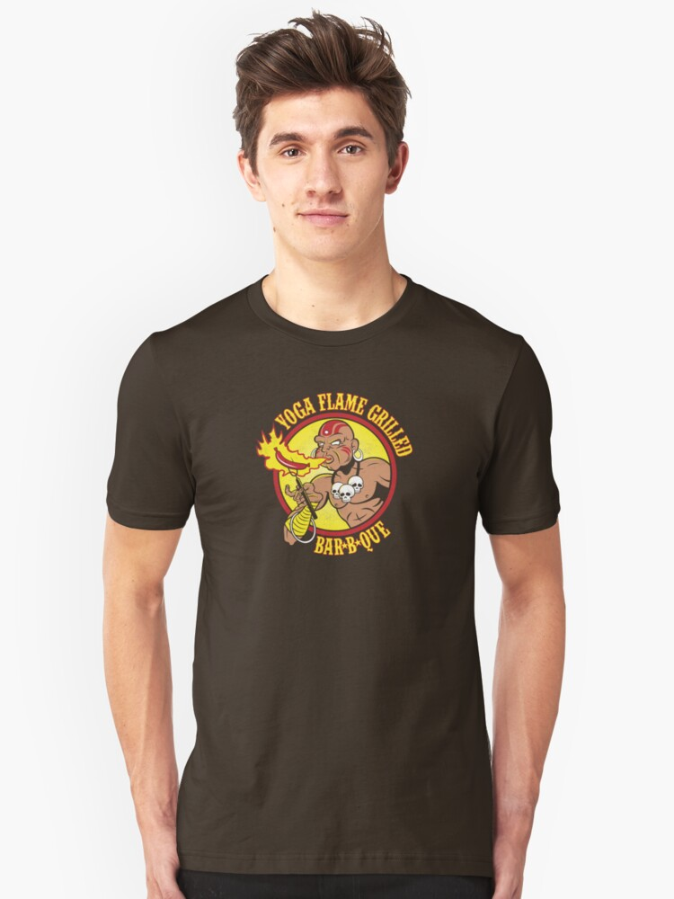 Yoga Flame Grilled BBQ Unisex T-Shirt Front