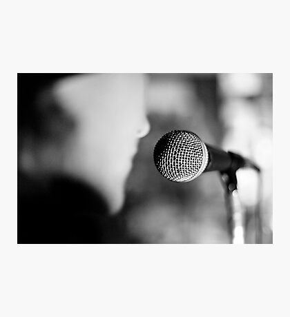 The singer Photographic Print