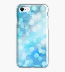 Turquoise Snowstorm - Abstract Watercolor Dots iPhone Case/Skin
