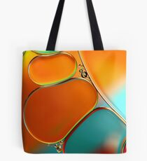 Oil & Water Abstract in Orange Tote Bag