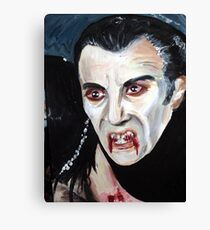 Christopher Lee as Dracula Canvas Print