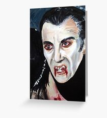 Christopher Lee as Dracula Greeting Card