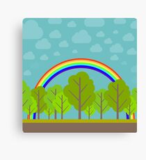 Summer Rainbow Canvas Print