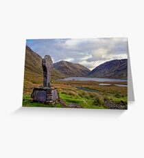 Doolough Tragedy Cross in Co.Mayo Ireland. Greeting Card
