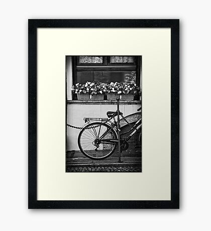 Bicycle with flowers Framed Print