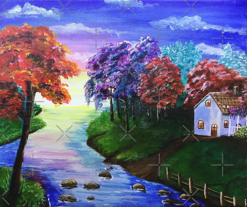 Secluded House by the River by chrissyturley