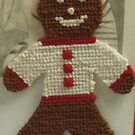 Gingerbread Cross Stitch Magnet by Bearie23