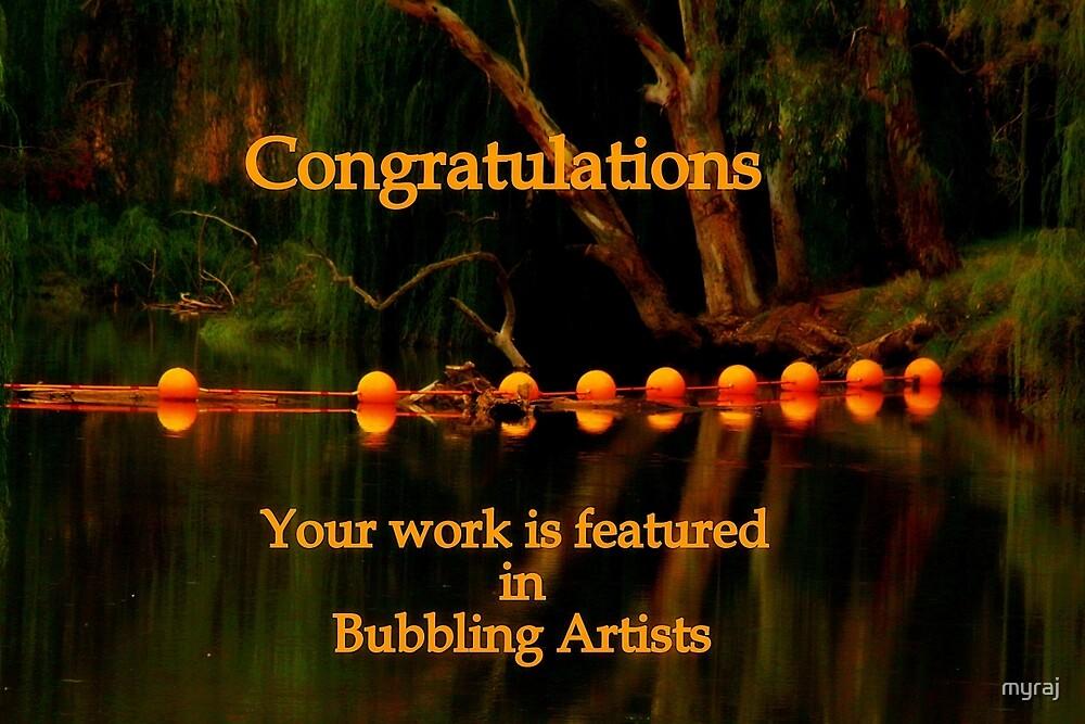'Bubbling Artists Banner' by myraj