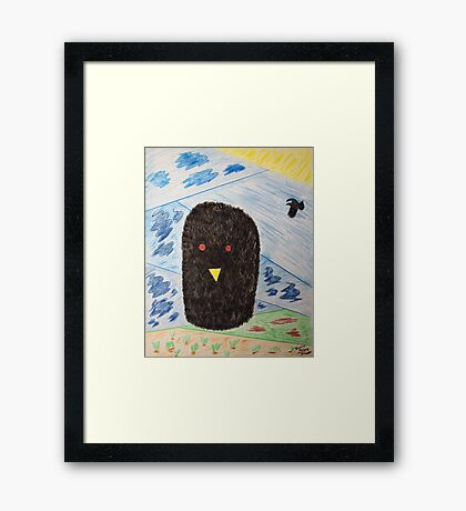 Bird Makes Fancy Self Portrait Framed Print