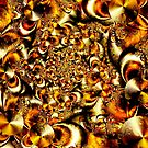 Brass Cymbal Spiral by bevanimage