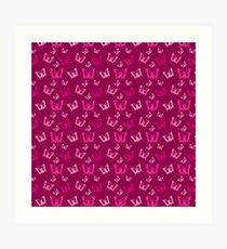 Breast Cancer Butterfly Ribbons Art Print