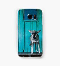 Dog in the fishermen's village Samsung Galaxy Case/Skin