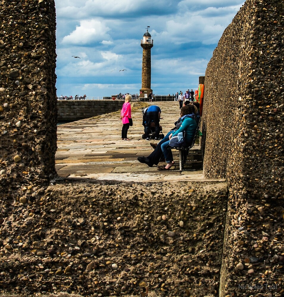 Whitby Lighthouse -  North Yorkshire by Nicholas Teal