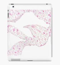 Geometric landscape pink drawing iPad Case/Skin