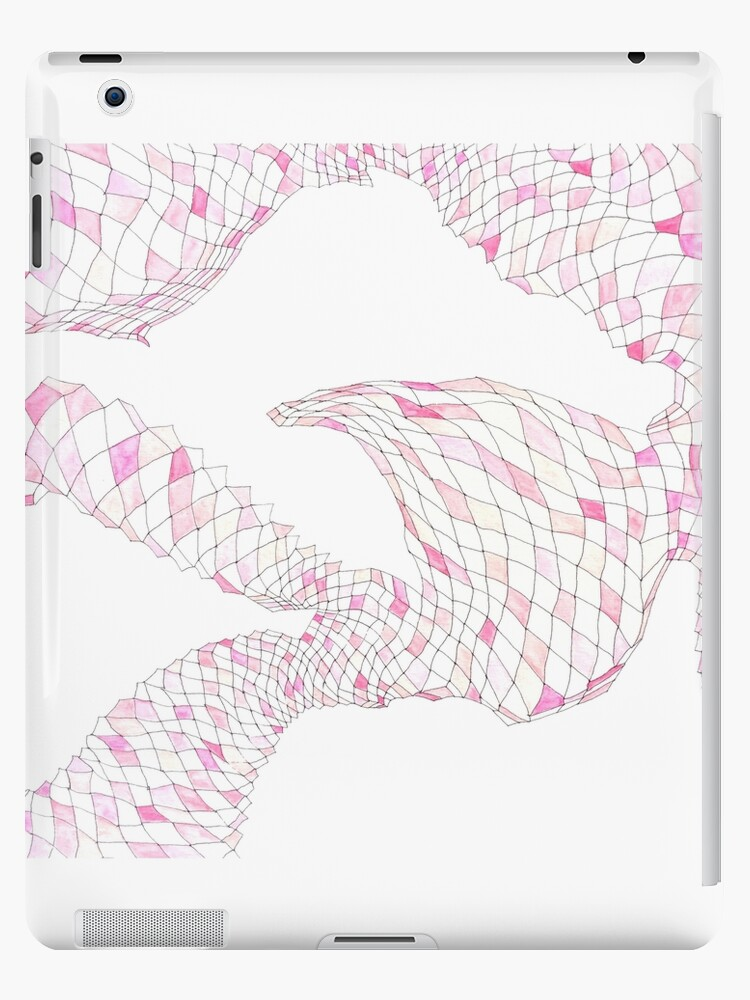 Geometric landscape pink drawing by BellaBark