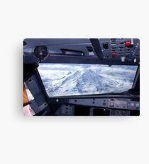 Mt. Rainier from an Airbus A320 Cockpit Canvas Print