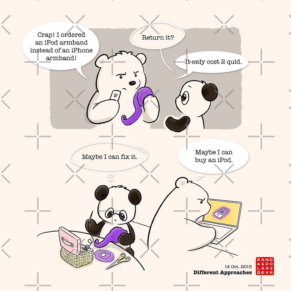 Different Approaches by Panda And Polar Bear