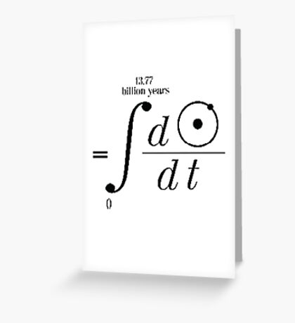 Hydrogen Over Time Greeting Card