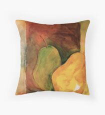 Two Pears: A Quick Study Throw Pillow