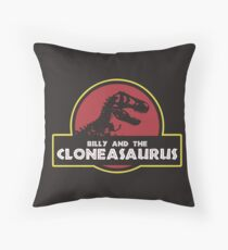 Billy and the Cloneasaurus shirt – The Simpsons, Jurassic World, Jurassic Park, Homer Simpson Throw Pillow