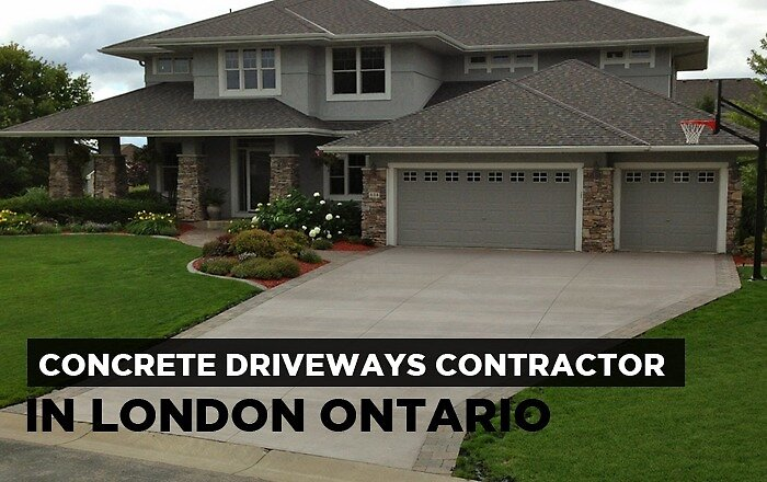 Concrete Driveways Contractor in London Ontario by Flandscape Ontario