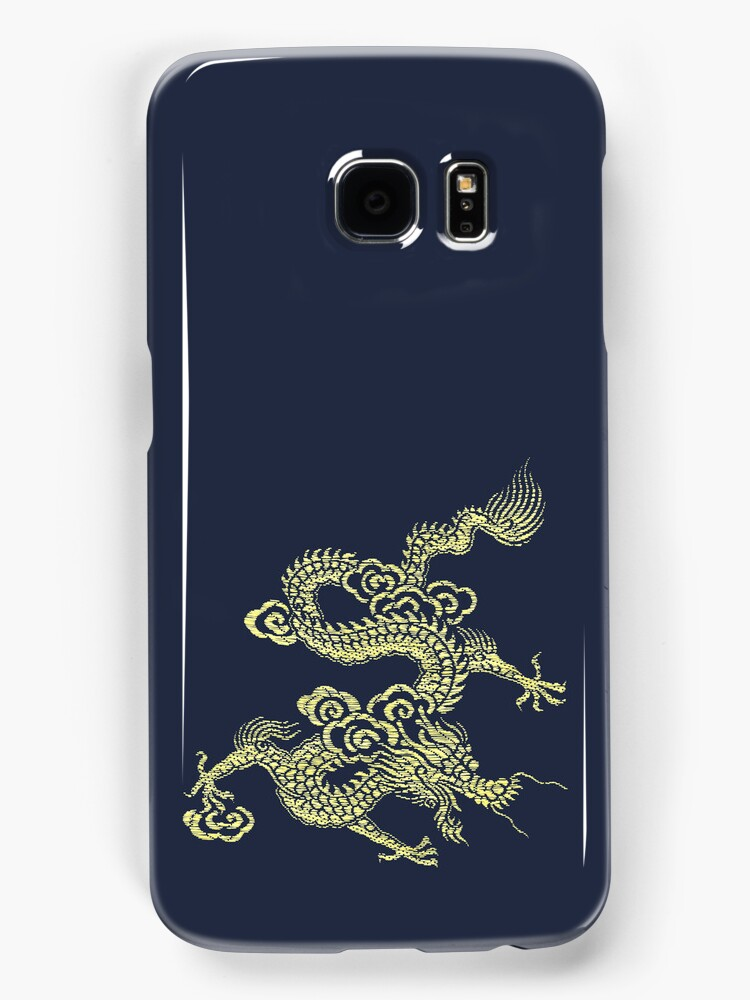 Golden Chinese Dragon iPhone Case by Jane McDougall