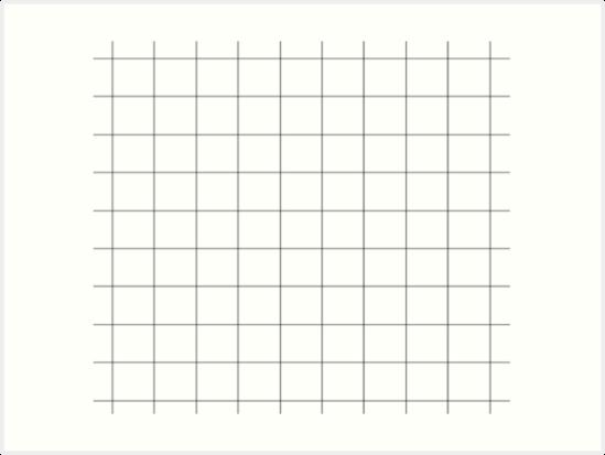 'White Grid aesthetic' Art Print by illumlnate