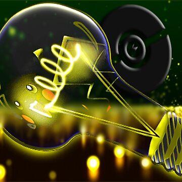 Pokemon Pikachu Lightbulb  by jbChimchar