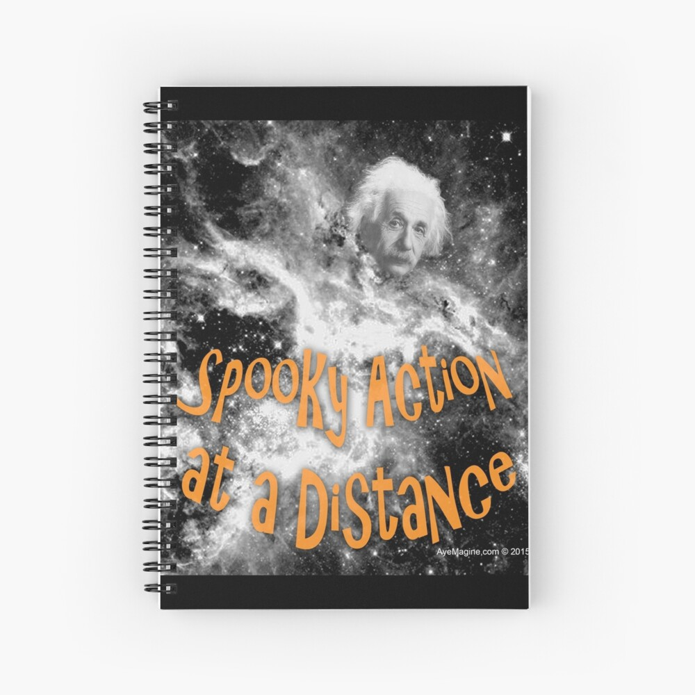 Spooky Action at a Distance Spiral Notebook