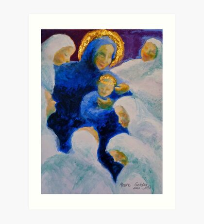 Being adored: Madonna and child. Art Print