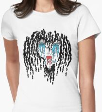 Melting Face Women's Fitted T-Shirt