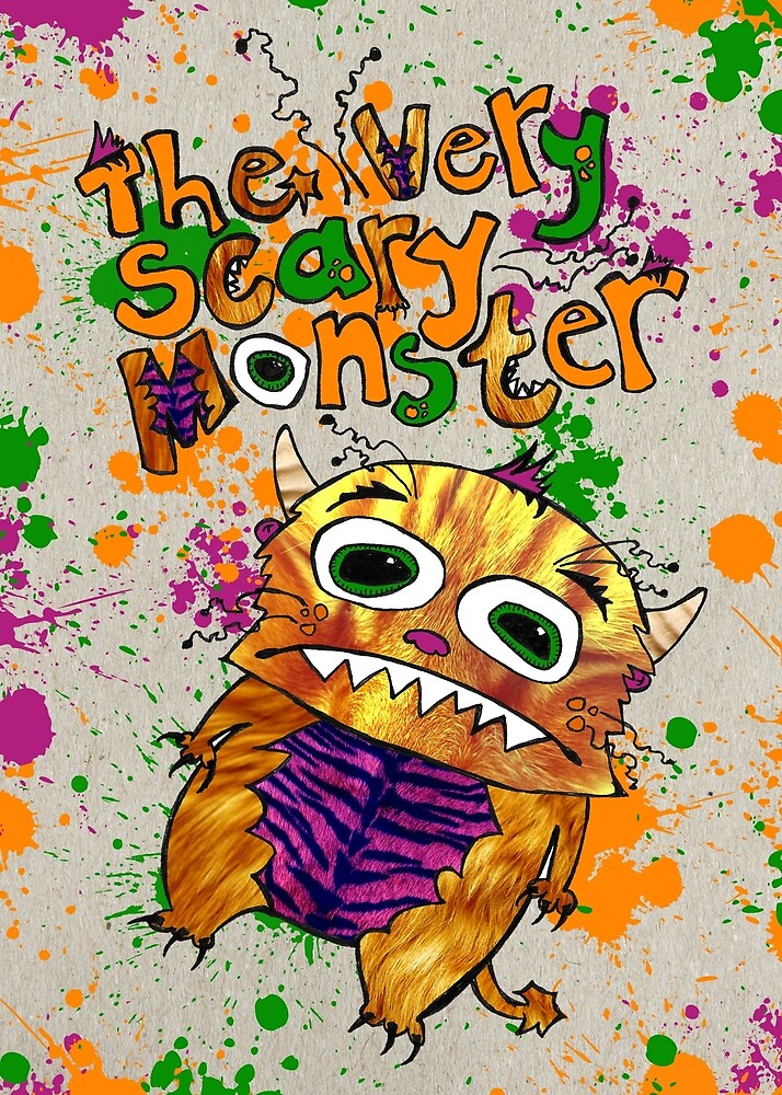 The very scary monster Drawstring Bag by ScaryMonster