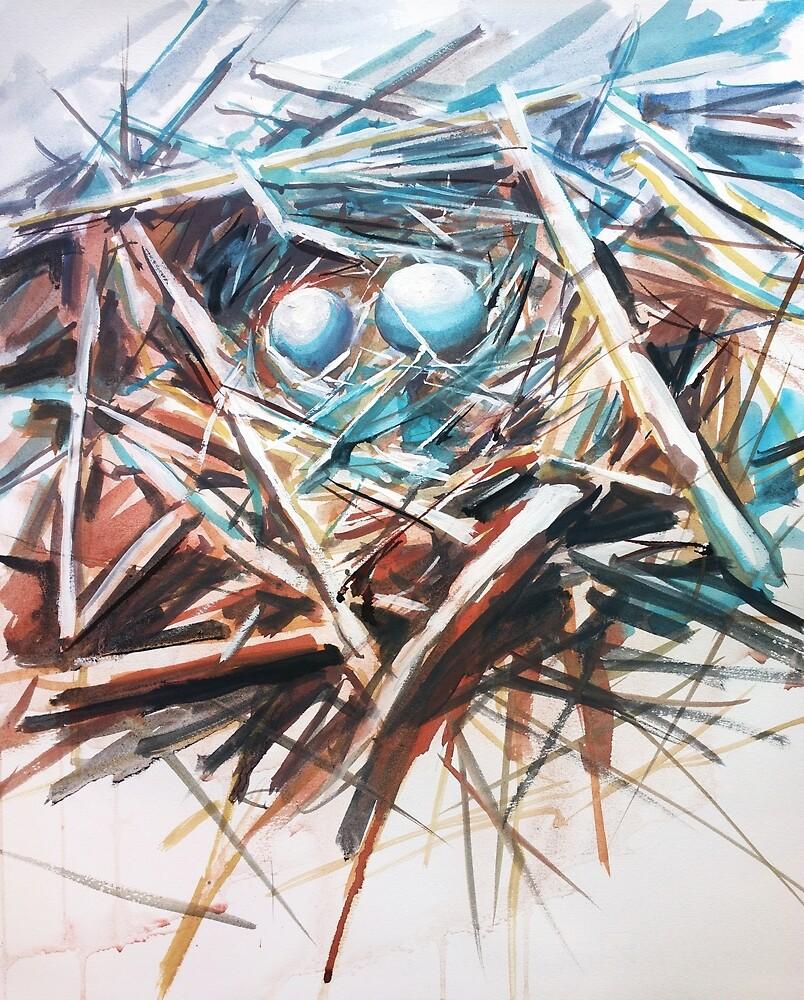 Bird nest  by ZlatkoMusicArt