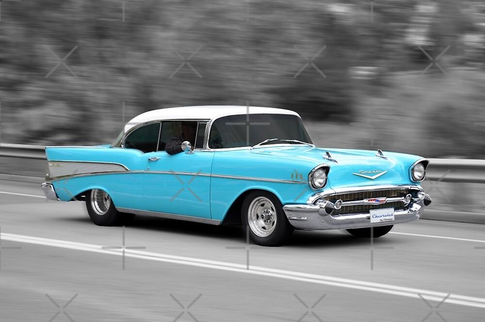 Blue Chevrolet Belair by Clintpix
