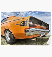 Orange Charger 6 Pack Hemi Poster