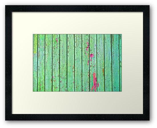 Green plank door by Silvia Ganora