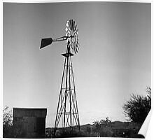 Old Time Windmill Poster