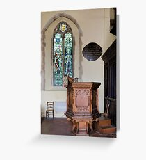 Pulpit and glass Greeting Card