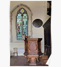 Pulpit and glass Poster