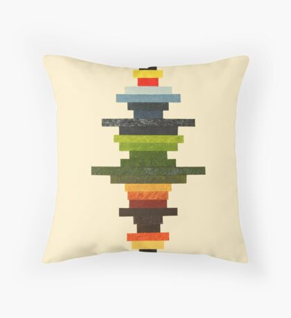 The Obfuscated Cross Throw Pillow