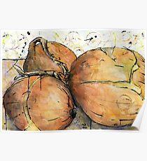 Onions Three Poster