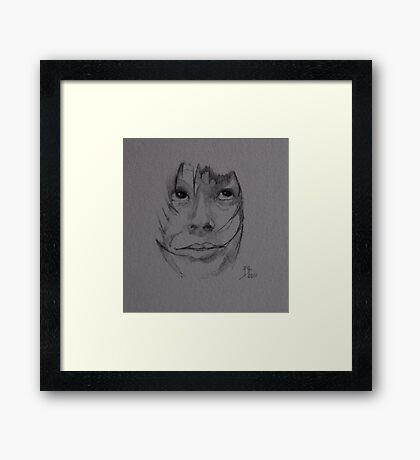 Sketch for Amanda Wright Framed Print