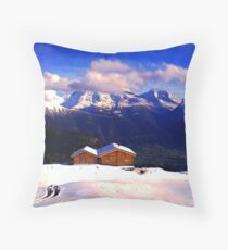 """Chalet - Zurich, Switzerland"" Throw Pillow"