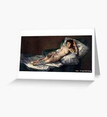 Maja's Goya as a suicide girl Street Art  Greeting Card