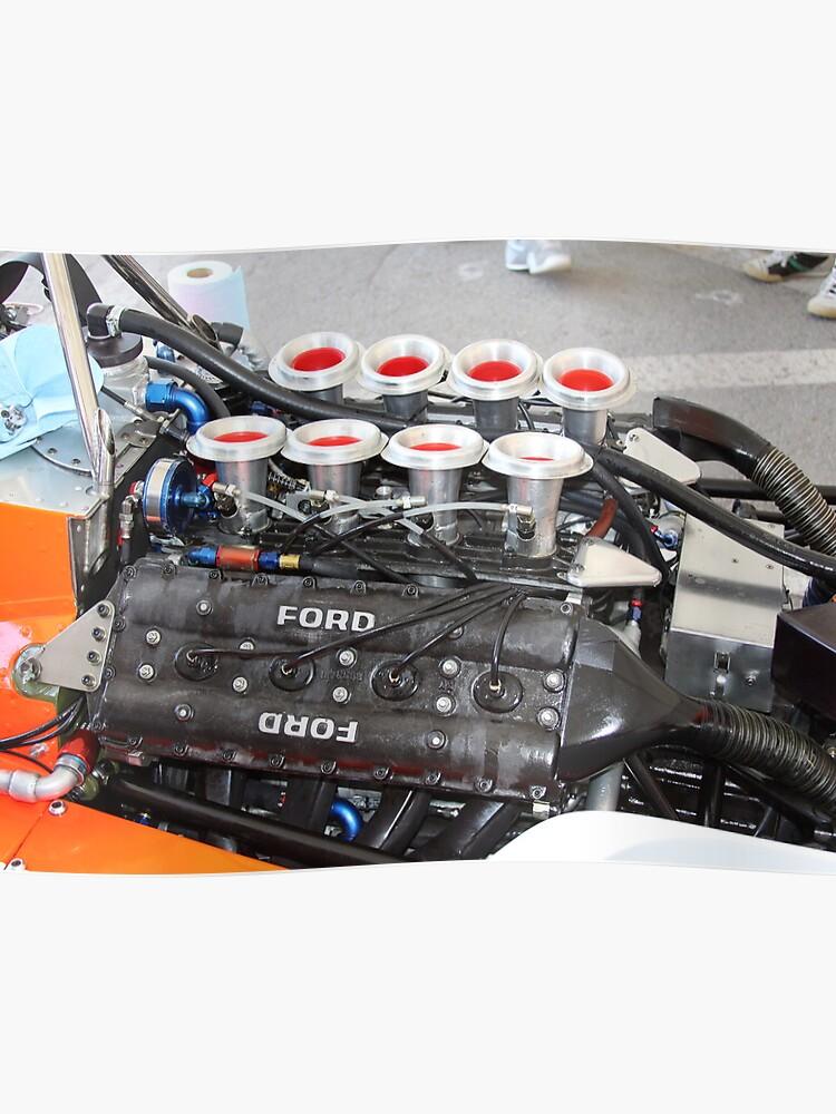 Vintage Formula V8 Engine Ford Cosworth | Poster