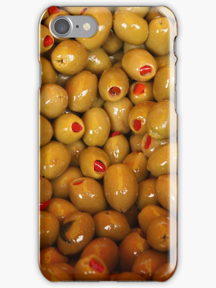 Olives iPhone case by Esther  Moliné