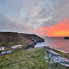 Cornwall: A Golden Finale at Trebarwith Strand by Rob Parsons (AKA Just a Walker with a Camera)