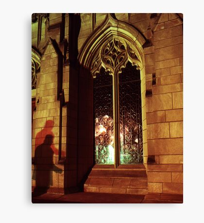 Stranger At The Church  Canvas Print