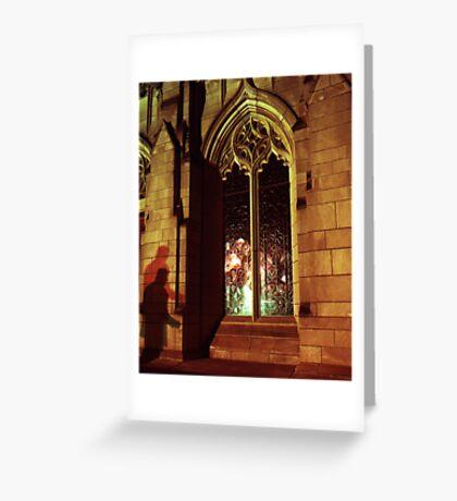 Stranger At The Church  Greeting Card